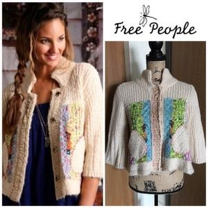 Free People Grandma Goes West Cropped Sweater